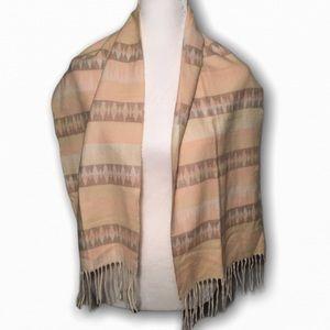 CASHMINK V. FRAAS Aztec Soft Tassel Scarf Pink